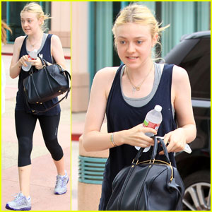 Dakota Fanning: Gym Lover