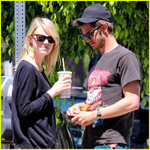 Emma Stone & Andrew Garfield: Burgers & Books!