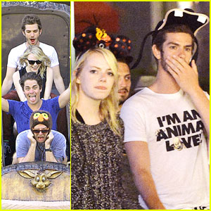 Emma Stone & Andrew Garfield: Disneyland Birthday Celebration!