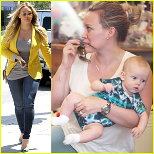 Hilary Duff: Studio City Shopping with Luca!