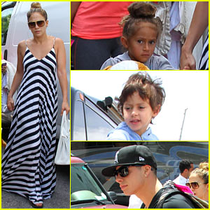 Jennifer Lopez & Casper Smart: Miami Arrival with Max & Emme!