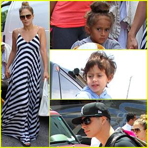 Jennifer Lopez & Casper Smart: Miami Arrival with Max & Emme!