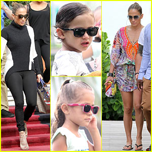 Jennifer Lopez: South Beach with Max & Emme!