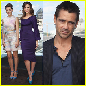 Jessica Biel & Kate Beckinsale: 'Total Recall' Berlin Photo Call!