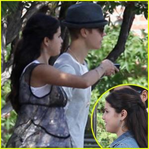 Justin Bieber Visits Selena Gomez On 'Parental Guidance' Set!