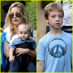 Kate Hudson: Giraffe Lunch with Bingham & Ryder!