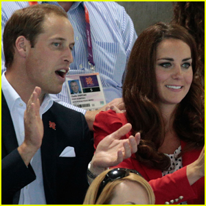Prince William & Duchess Kate: Swimming Spectators!