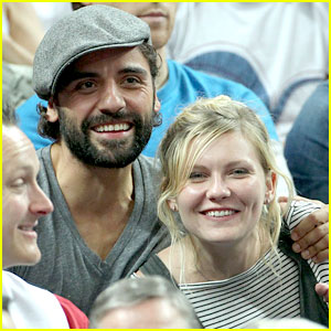 Kirsten Dunst & Oscar Isaac: London Olympics Spectators!