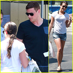 Lea Michele: Birthday Grocery Run with Cory Monteith!