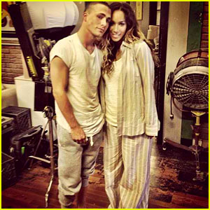 Leona Lewis: 'Trouble' Video Shoot with Colton Haynes!