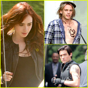 Lily Collins & Jamie Campbell Bower: 'Mortal Instruments' Set!
