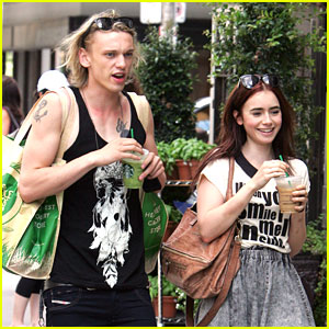 Lily Collins 'Melts Inside' with Jamie Campbell Bower