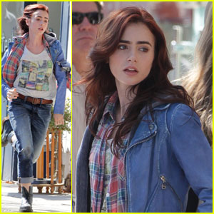 Lily Collins: 'Mortal Instruments' Chase Scene