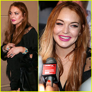 Lindsay Lohan: will.i.am's Album Wrap Party!