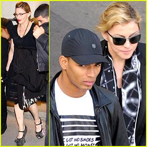 Madonna & Brahim Zaibat: Leopold Museum Couple!