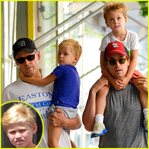 Matt Bomer: Family Stroll with Kit, Henry, & Walker!