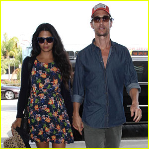 Matthew McConaughey & Camila Alves: LAX Lovers