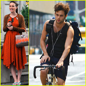 Leighton Meester: 'Gossip Girl' with Ed Westwick & Chace Crawford!