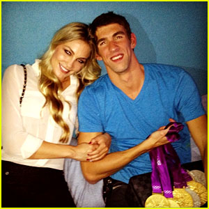 Michael Phelps & Megan Rossee: Olympic Win Celebration!