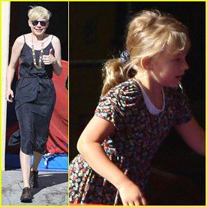Michelle Williams: Ballet Class Drop Off!