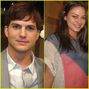 Mila Kunis: 'Two and a Half Men' Set with Ashton Kutcher!