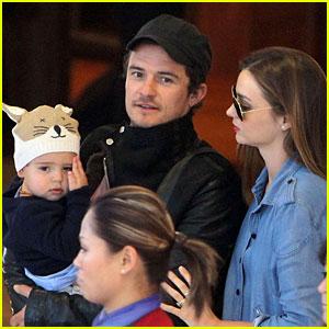 Miranda Kerr & Orlando Bloom: Sydney Arrival with Flynn!