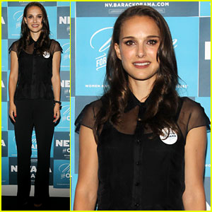 Natalie Portman Campaigns for President Obama