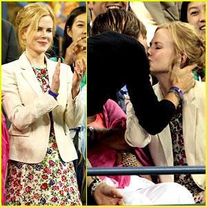Nicole Kidman: U.S. Open Kisses with Keith Urban!
