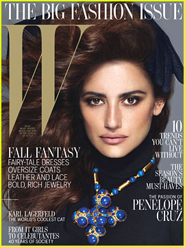 Penelope Cruz Covers 'W' Magazine September 2012
