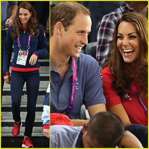 Prince William & Duchess Kate: Paralympics Spectators!