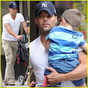 Ricky Martin: Pizza Stop with Grandpa & the Twins!