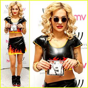 Rita Ora: Flamin' Hot 'Ora' Album Signing!