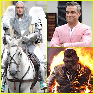 Robbie Williams: Knight of Armor Angel for New Music Video!