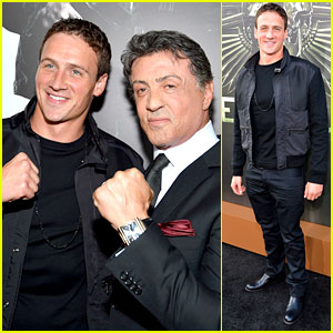 Ryan Lochte: 'Expendables 2' Premiere with Sly Stallone!
