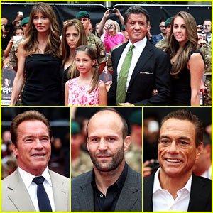 Sylvester Stallone Brings Family to 'Expendables 2' Premiere