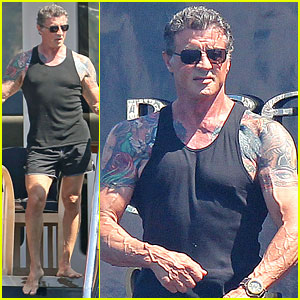 Sylvester Stallone & Family: Yacht Vacation in Cannes!