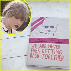 Taylor Swift We Are Never Ever Getting Back Together Lyric Video Taylor Swift Just Jared