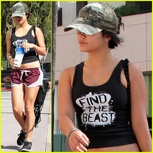 Vanessa Hudgens Finds the Beast at the Gym!