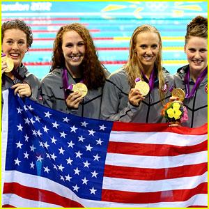U.S. Women's Swimming Team Wins Gold in 4x200m Relay!