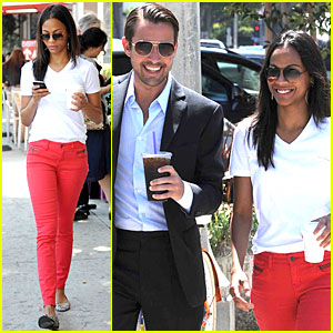 Zoe Saldana: Red Hot Coffee Run!