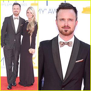 Aaron Paul & Lauren Parsekian - Emmys 2012 Red Carpet