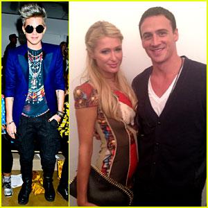 Adam Lambert & Ryan Lochte: Jeremy Scott Show!