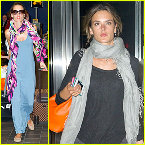 Alessandra Ambrosio: Scarves in New York!