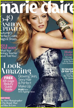 Blake Lively: 'Marie Claire UK' Cover Girl!