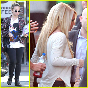 Britney Spears & Demi Lovato Step Out on 'X Factor' Premiere Night!