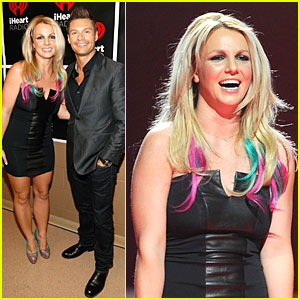 Britney Spears: Rainbow Hair at iHeartRadio Music Festival!