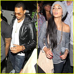 Chris Brown & Nicole Scherzinger: 'They Were Not Kissing'!