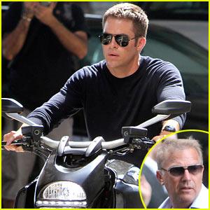 Chris Pine: 'Jack Ryan' Motorcycle Man!