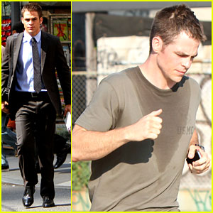 Chris Pine: Suits & Sweats for Jack Ryan Reboot!