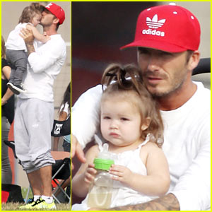 David Beckham: Doting Soccer Dad!